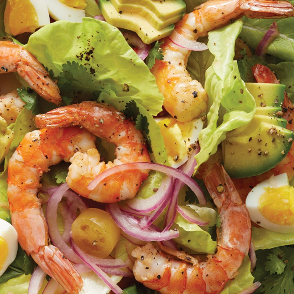 Shrimp, Avocado, and Egg Chopped Salad