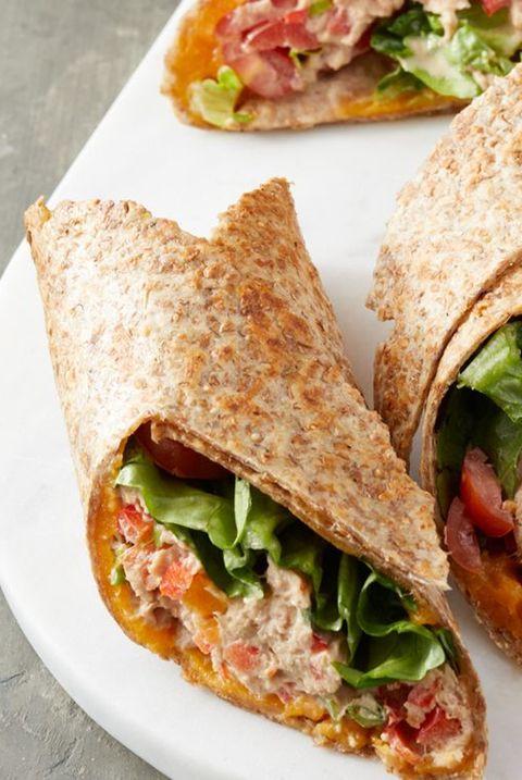 Tuna and Cheddar Wraps