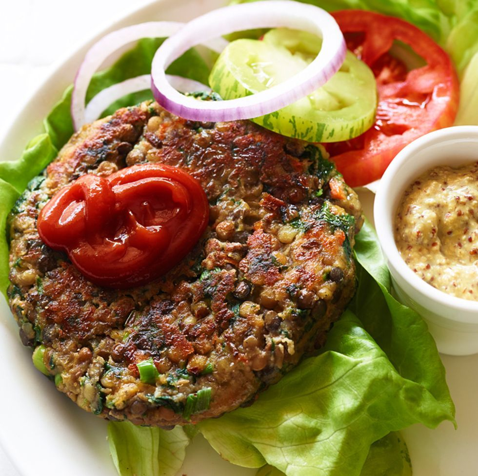 High-Protein Veggie Burger
