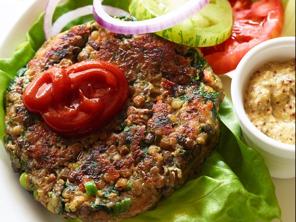 Even Meat Lovers Will Love This Protein-Packed Veggie Burger