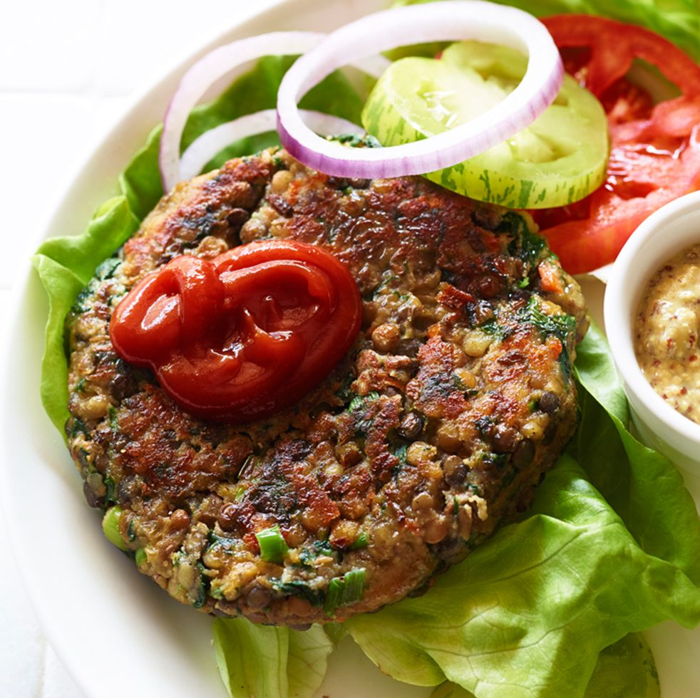 High Protein Veggie Burger