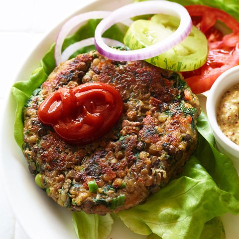 High Protein Veggie Burger