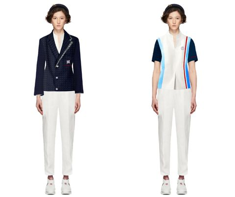 Clothing, White, Outerwear, Blazer, Uniform, Suit, Jacket, Sleeve, Formal wear, Trousers,