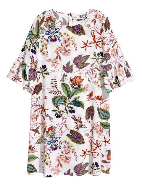 Clothing, Sleeve, Day dress, Dress, Blouse, Top, T-shirt, Plant, Pattern, Pattern,
