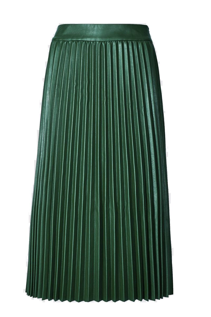 M&S Faux Leather Pleated Midi Skirt