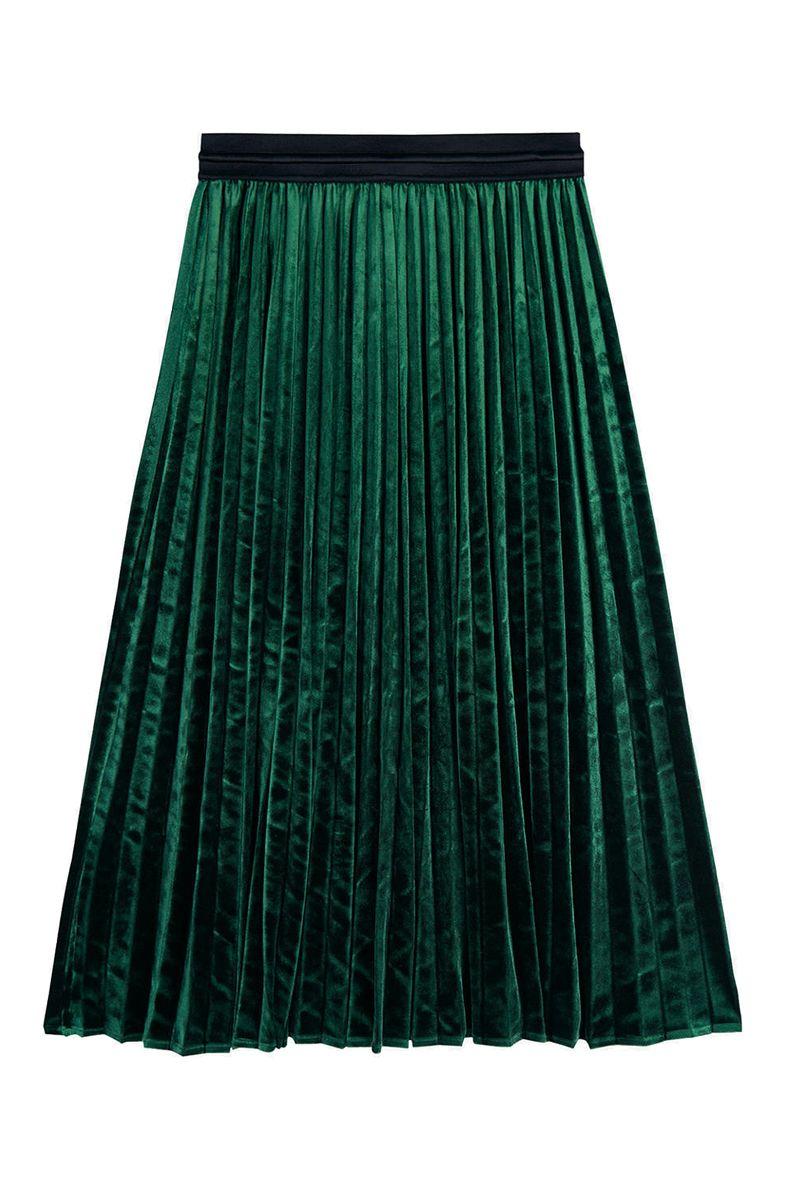 John Lewis Hush Esme Velour Skirt, Botanical