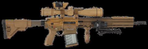Firearm, Gun, Trigger, Rifle, Assault rifle, Machine gun, Gun barrel, Air gun, Tan, Airsoft,
