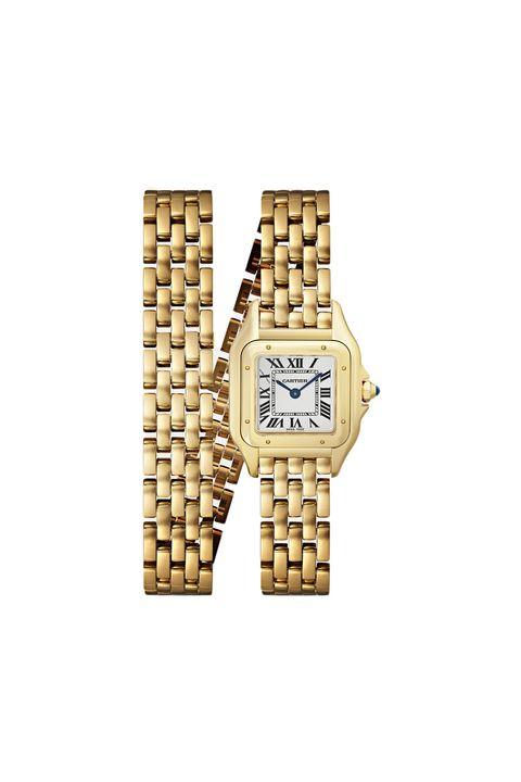 1st anniversary gifts - Cartier Panthère de Cartier 22mm small 18-karat gold watch