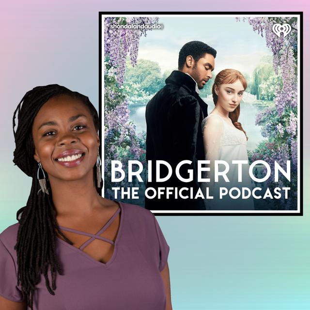 "gabrielle collins, host of ""bridgerton the official podcast"""