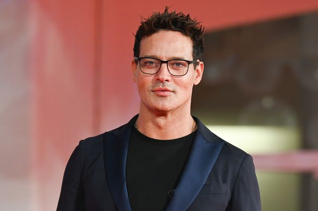 venice, italy   september 08  gabriel garko attends the red carpet of the movie halloween kills during the 78th venice international film festival on september 08, 2021 in venice, italy photo by stephane cardinale   corbiscorbis via getty images