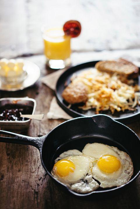 Dish, Food, Cuisine, Fried egg, Ingredient, Meal, Breakfast, Egg yolk, Poached egg, Comfort food,