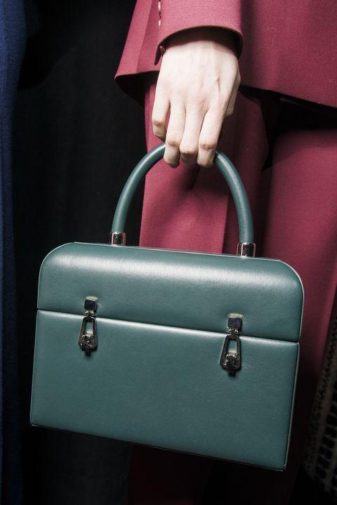Bag, Handbag, Green, Birkin bag, Lock, Hand luggage, Fashion accessory, Beauty, Leather, Pink,