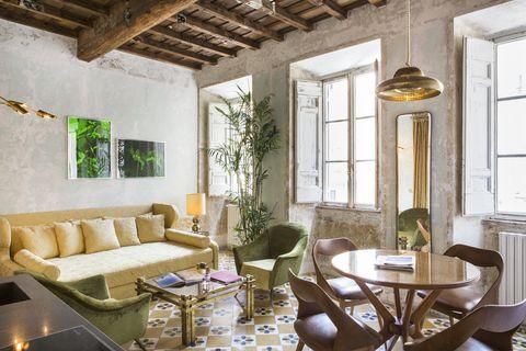 Gabriele Salini transforma el palacio histórico en un hotel G-Rough en Roma