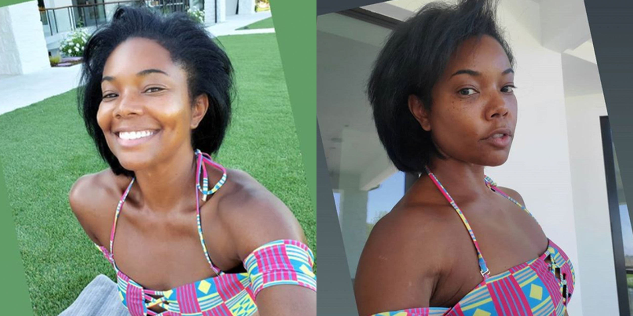 Gabrielle Union Shows Off Freckles In