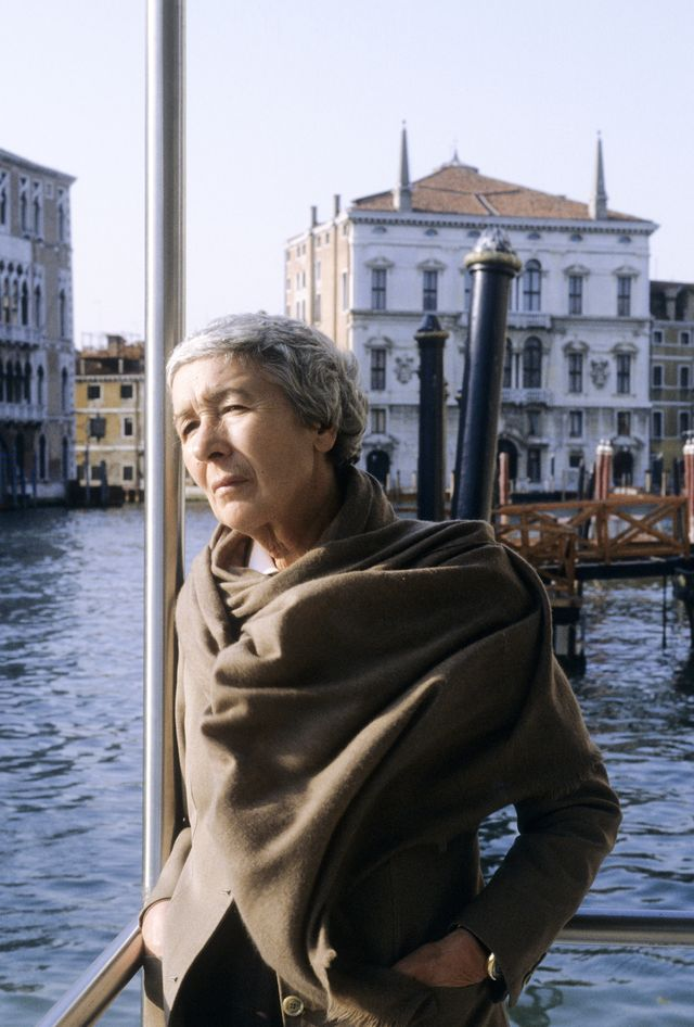 gae aulenti  at palazzo grassi, during the setup of a marcel duchamp's exhibition, venice, 26th march 1993 photo by leonardo cendamogetty images