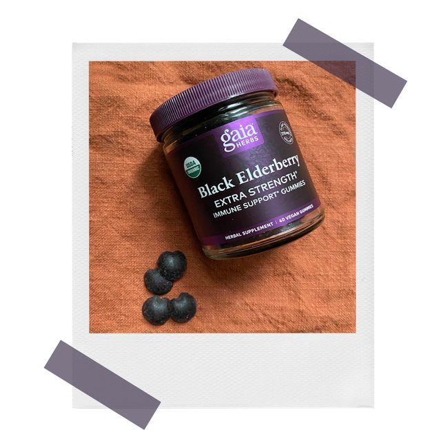 gaia black elderberry immune support gummies