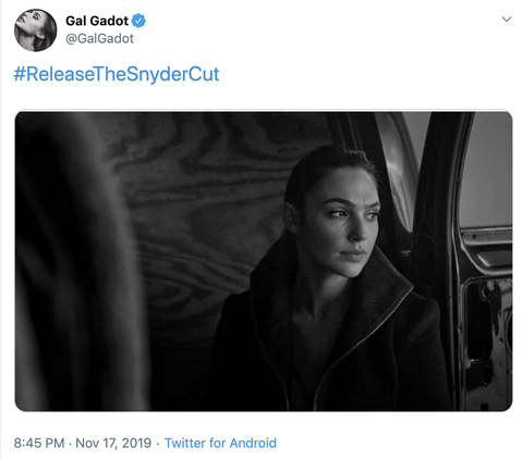 Justice League's Gal Gadot and Ben Affleck join co-stars in call for 'Snyder Cut' to be released