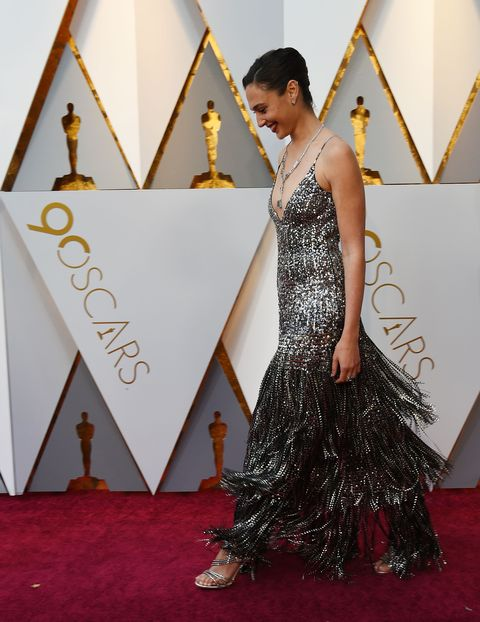 Gal Gadot Sparkly Givenchy Gown 2018 Oscars Gal Gadot