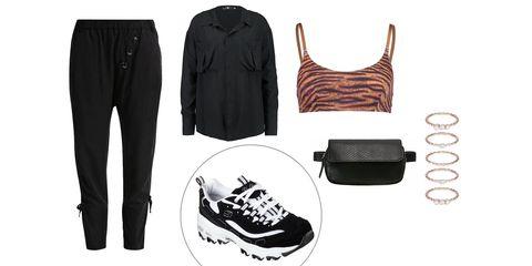 Clothing, Black, White, Footwear, Shoe, Sportswear, Fashion, Outerwear, Jeans, T-shirt,