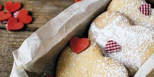 Galletas de mantequilla con forma de corazón