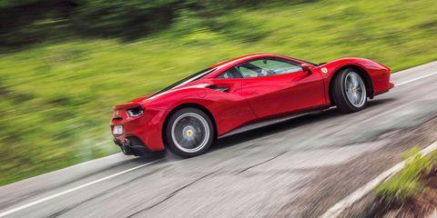 Land vehicle, Vehicle, Car, Supercar, Automotive design, Sports car, Red, Ferrari 458, Coupé, Luxury vehicle,