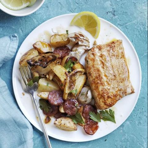 Roasted Cod, Potatoes, and Chorizo — Best Seafood Recipes