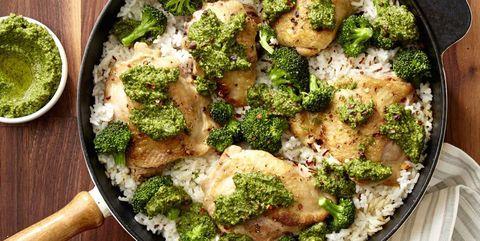 Broccoli Pesto Chicken & Rice