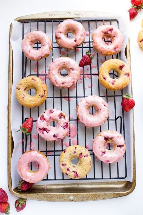 strawberry donuts