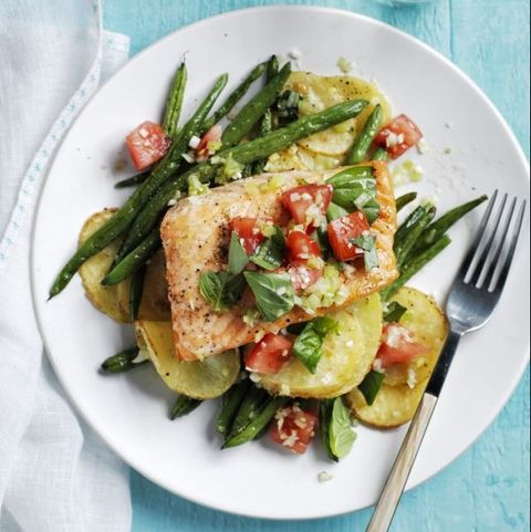 Roasted Salmon, Potatoes & Green Beans — Best Seafood Recipes
