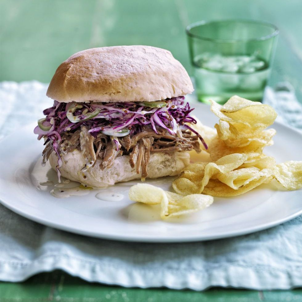 Zesty Pork and Slaw Sandwiches North Carolina-style BBQ without having to travel the distance.