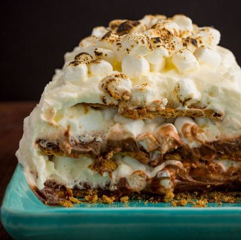 Memorial Day Desserts- S'Mores Ice Box Cake