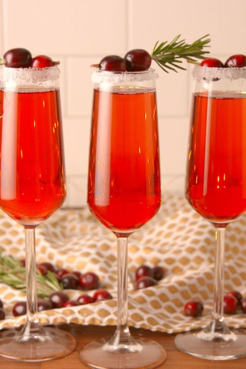 christmas cocktails cranberry mimosas