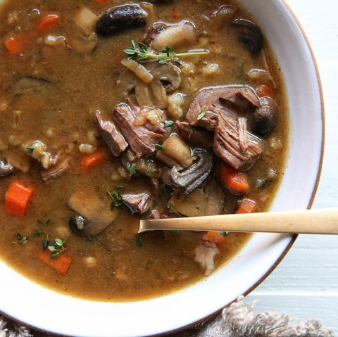 Slow-Cooker Beef & Barley Soup