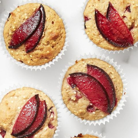 healthy valentine treats spiced plum and quinoa muffins