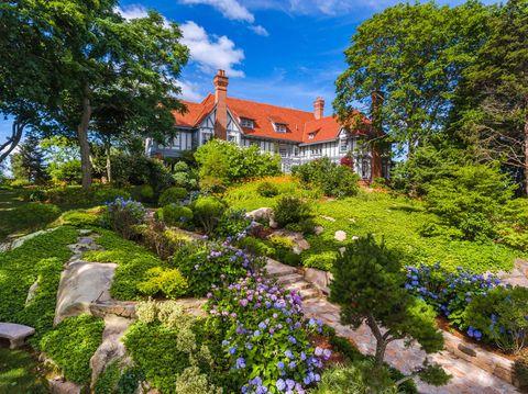 Garden, Property, Home, House, Natural landscape, Real estate, Spring, Flower, Plant, Botany,