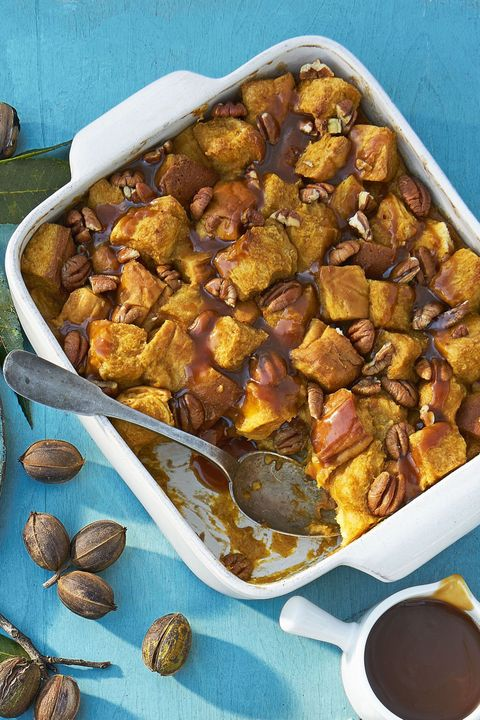 pumpkin pecan bread pudding easy thanksgiving desserts