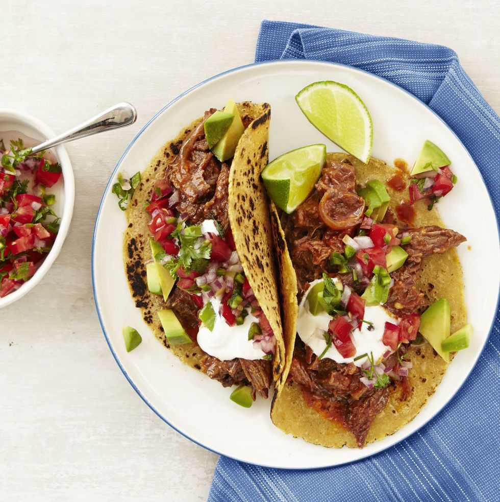 Chipotle Beef Tacos with Pico de Gallo These spicy, protein-packed tortillas make Taco Tuesday a no-brainer, even on the busiest of weeks. Don't worry, you can thank me later.