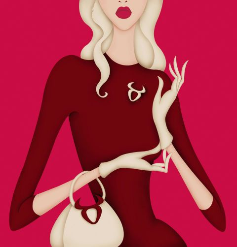 Pink, Cartoon, Illustration, Lip, Magenta, Blond, Dress, Neck, Fictional character, Plant,