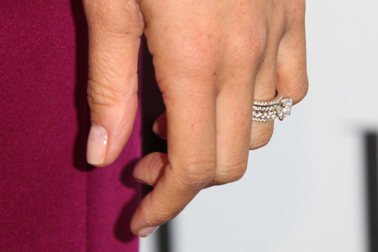 Meghan Markle Wore Her Engagement Ring And Wedding Band For The ELLE Women  In Television Celebration On January 24, 2013, Months Before Her Divorce
