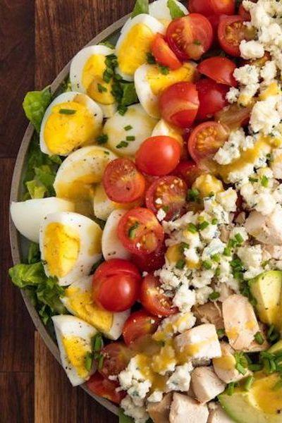 boiled egg recipes - cobb salad