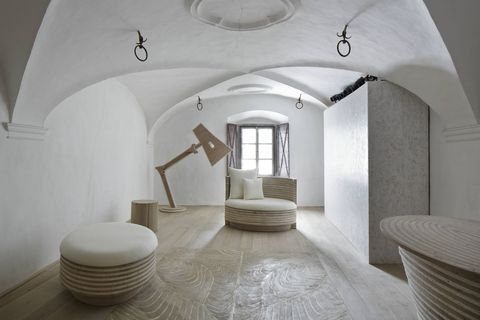 White, Room, Interior design, Property, Arch, Architecture, Building, Ceiling, Floor, House,