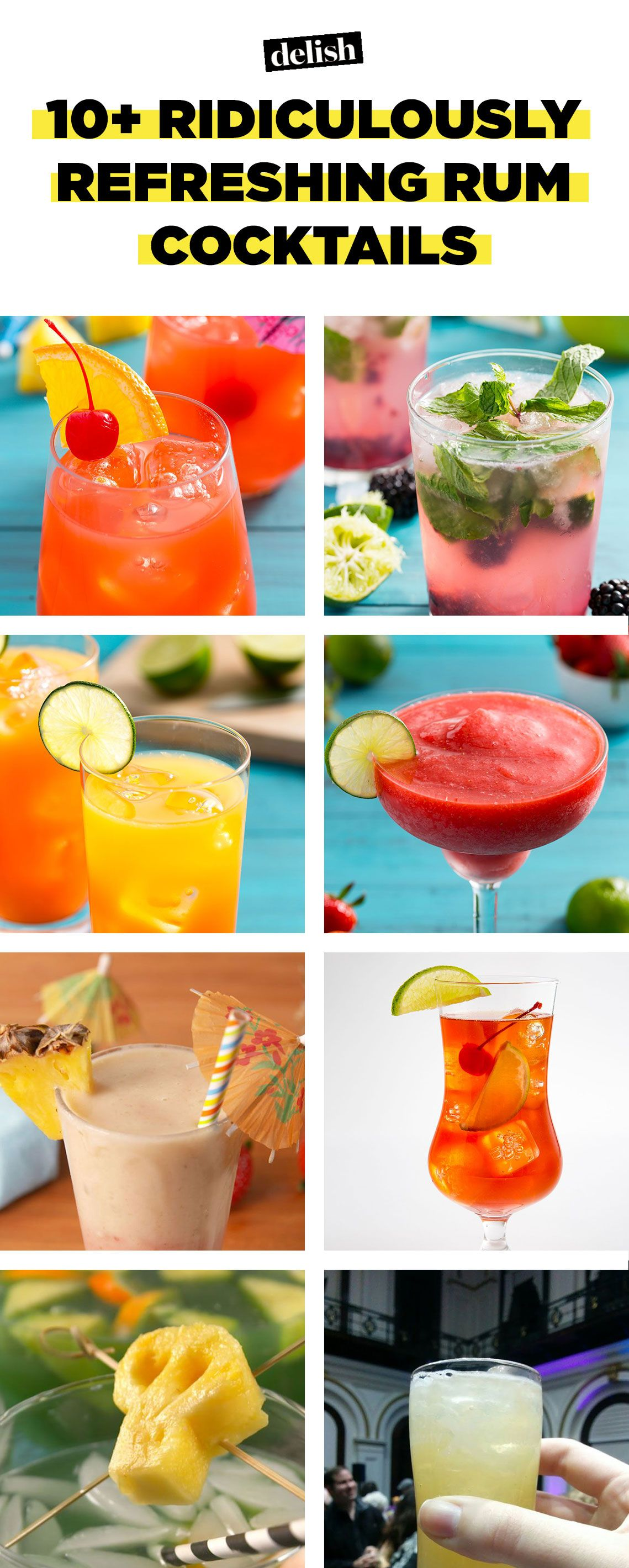 15 Easy Rum Mixed Drinks Best Rum Cocktail Recipes