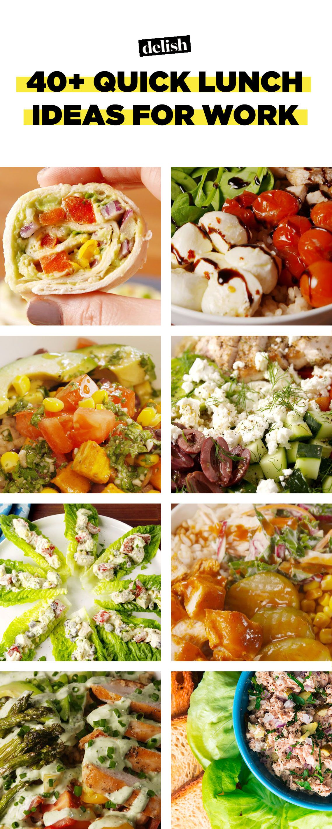 40 Quick Lunch Ideas For Work Recipes Fast Lunches Delish