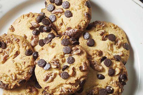 galletas de margarina, chocolate y nueces
