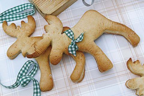 galletas de navidad con forma de reno