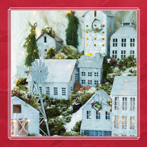 Christmas Village Houses.Where To Buy Galvanized Christmas Village Zinc Metal