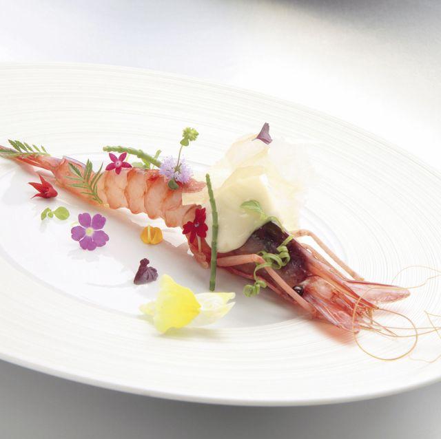 Gamba roja, plato de Quique Dacosta