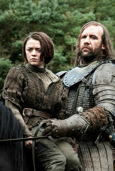 game of thrones couples costumes - hound and arya