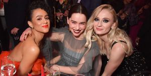 Game of Thrones, Season 8 Premiere, Nathalie Emmanuel, Emilia Clarke, Sophie Turner