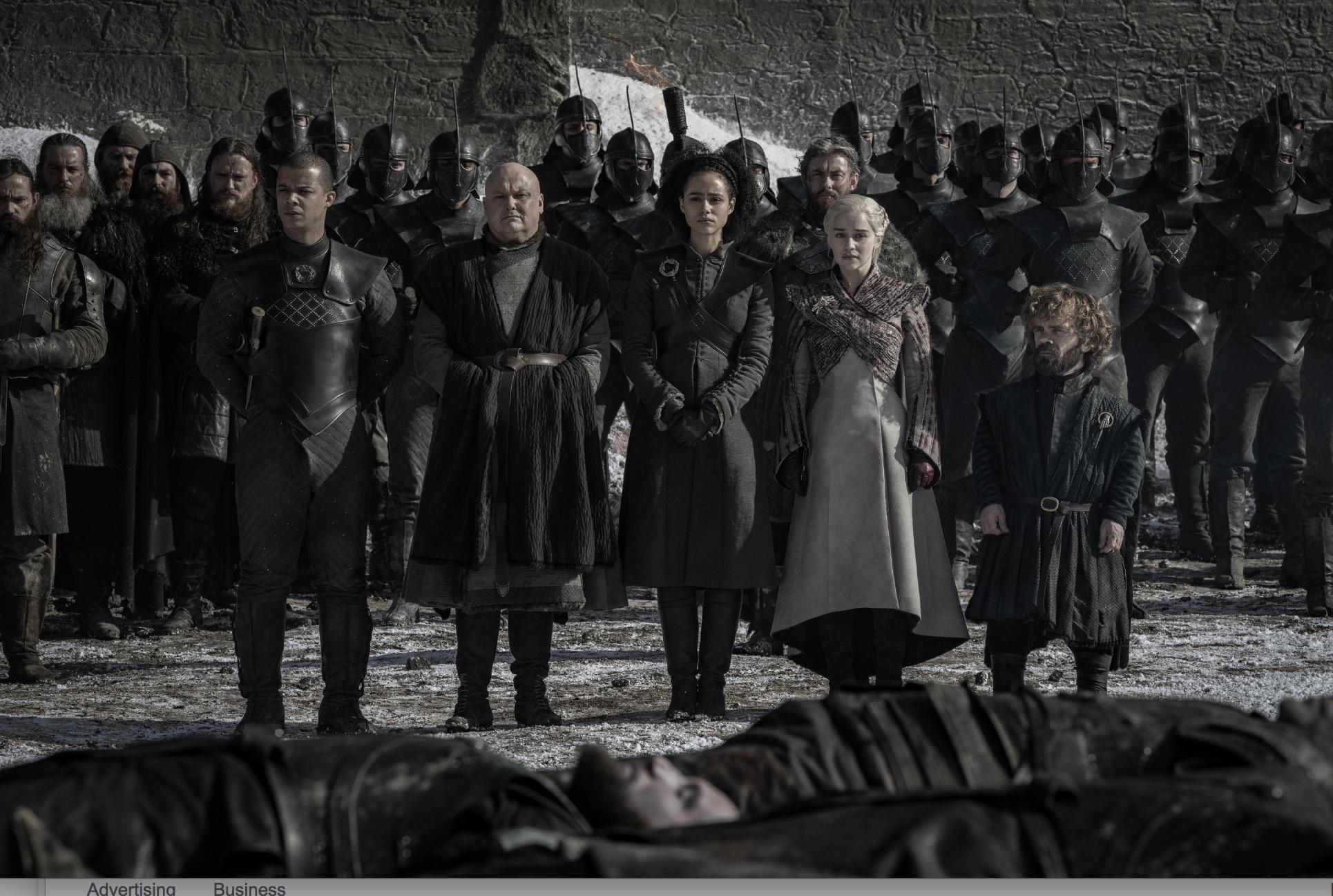 Game of Thrones season 8, episode 4: Grey Worm, Varys, Daenerys Targarye and Tyrion Lannister